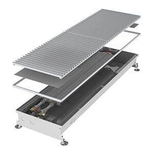 Конвектор встраиваемый в пол без вентилятора MINIB COIL-PT105-3000 (без решетки)
