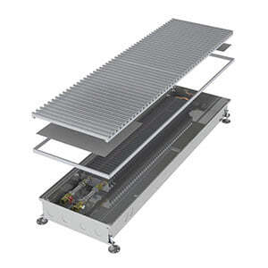 Конвектор встраиваемый в пол без вентилятора MINIB COIL-PT80-1750 (без решетки)