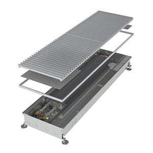 Конвектор встраиваемый в пол без вентилятора MINIB COIL-PT80-3000 (без решетки)