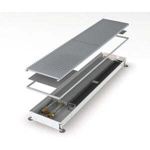 Конвектор встраиваемый в пол с вентилятором MINIB COIL-T60-2500 (без решетки)