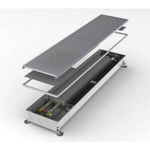 Конвектор встраиваемый в пол с вентилятором MINIB COIL-T80-1250 (без решетки)