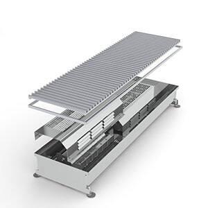 Конвектор встраиваемый в пол с вентилятором MINIB COIL-TE-2000 (без решетки)