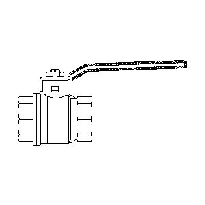 "Шаровой кран Oventrop Optibal с рычагом, ВР-ВР, 1"", артикул 1076008"