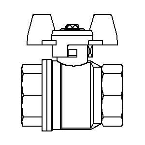 "Шаровой кран Oventrop Optibal с бабочкой, ВР-ВР, 1 1/4"", артикул 1076110"