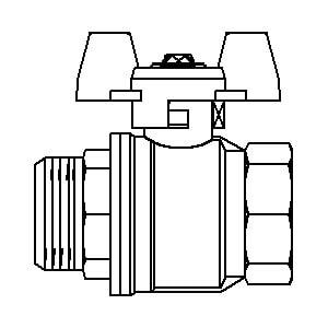 "Шаровой кран Oventrop Optibal с бабочкой, ВР-НР, 1"", артикул 1076308"