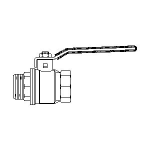"Шаровой кран Oventrop Optibal с рычагом, ВР-НР, 1"", артикул 1076208"