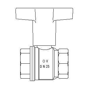 "Шаровой кран Oventrop Optibal с маховиком, ВР-ВР, 1"", артикул 1077108"
