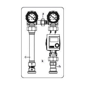 """Система обвязки котла Oventrop """"Regumat S-180"""" Ду 25 1"""" (без насоса), Арт. 1356020"""