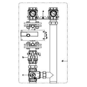 """Система подключения котла Oventrop """"Regumat M3-220"""" Ду 40  без насоса, с универсальной изоляцией, Арт. 1358340"""