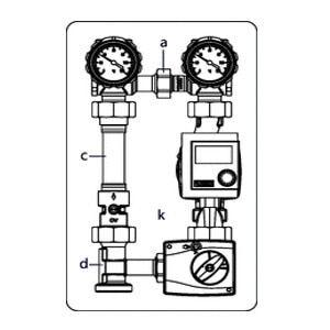 Система обвязки котла Oventrop Regumat М3-180 с универсальной теплоизоляцией без насоса, Арт. 1356220