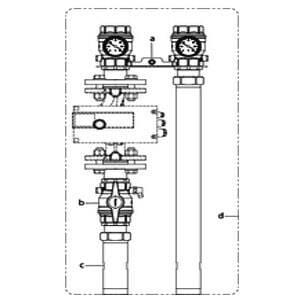 """Система подключения котла Oventrop """"Regumat S-220"""" Ду 40 без насоса, с универсальной изоляцией, Арт. 1358240"""