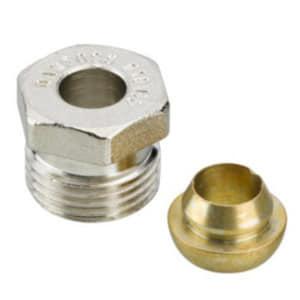 Компрессионный фитинг Danfoss наружная резьба G 1/2 A для медных труб 15 мм, арт. 013G4115
