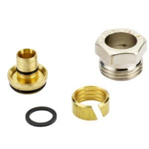Компрессионный фитинг Danfoss наружная резьба G 1/2 A для металлополимерных труб (ALUPEX) 14 x 2 мм, арт. 013G4174