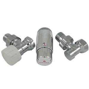 Комплект угловой SCHLOSSER STANDARD MINI Хром DN15 GZ1/2 x GW1/2 с головкой M30x1,5 602200060