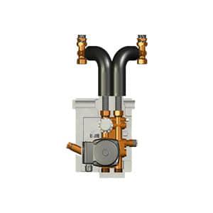 Meibes Исполнение с двухходовым клапаном, с термостатическим приводом (25–50 °С) c насосом Grundfos UPS 15-50 MBP. Артикул (ME 27409.2)